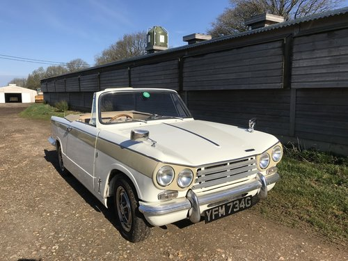 1969 Triumph Vitesse Convertible Mk2 .. SOLD (picture 1 of 6)