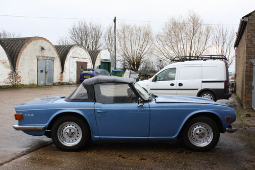 1974 FRENCH BLUE TR6 SOLD (picture 1 of 1)