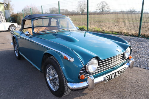 1968 TR5 Original UK Car in Valencia Blue SOLD (picture 1 of 5)