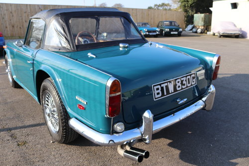 1968 TR5 Original UK Car in Valencia Blue SOLD (picture 2 of 5)