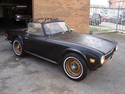 TRIUMPH TR6 2 5 LHD CONVERTIBLE (1973) FACTORY YELLOW SOLD