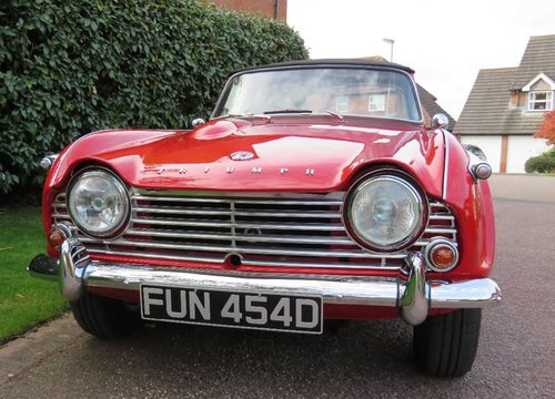1966 Triumph TR4A IRS surrey top SOLD (picture 1 of 6)