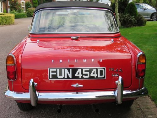 1966 Triumph TR4A IRS surrey top SOLD (picture 3 of 6)