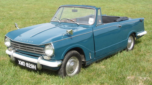 1970 Triumph Herald 13/60 Convertible For Sale  SOLD (picture 1 of 6)