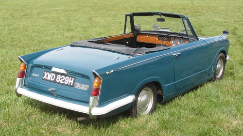 1970 Triumph Herald 13/60 Convertible For Sale  SOLD (picture 2 of 6)