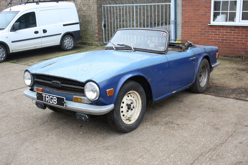TR6 1969 ORIGINAL 150 BHP EARLY CAR WITH OVERDRIVE SOLD (picture 1 of 6)