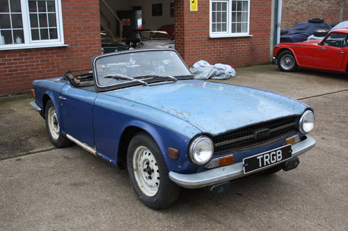 TR6 1969 ORIGINAL 150 BHP EARLY CAR WITH OVERDRIVE SOLD (picture 4 of 6)