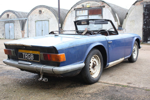 TR6 1969 ORIGINAL 150 BHP EARLY CAR WITH OVERDRIVE SOLD (picture 5 of 6)