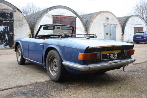 TR6 1969 ORIGINAL 150 BHP EARLY CAR WITH OVERDRIVE SOLD (picture 6 of 6)