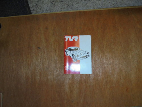 TVR 3000M Owners Handbook For Sale (picture 1 of 1)