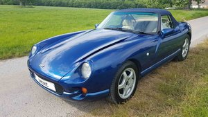 1995 TVR Chimaera 4.0 in Avus blue with Cream Blue Interior. SOLD