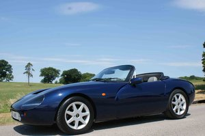 1997  TVR Gr 500 in Pearl Blue with Portland Grey  SOLD