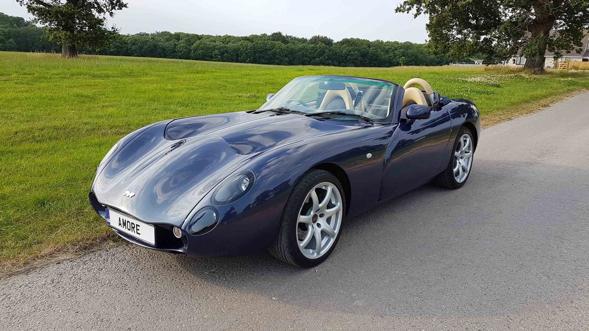 2007 Stunning 1 Owner MK3 TVR Tuscan Convertible in Space Blue For Sale (picture 2 of 6)