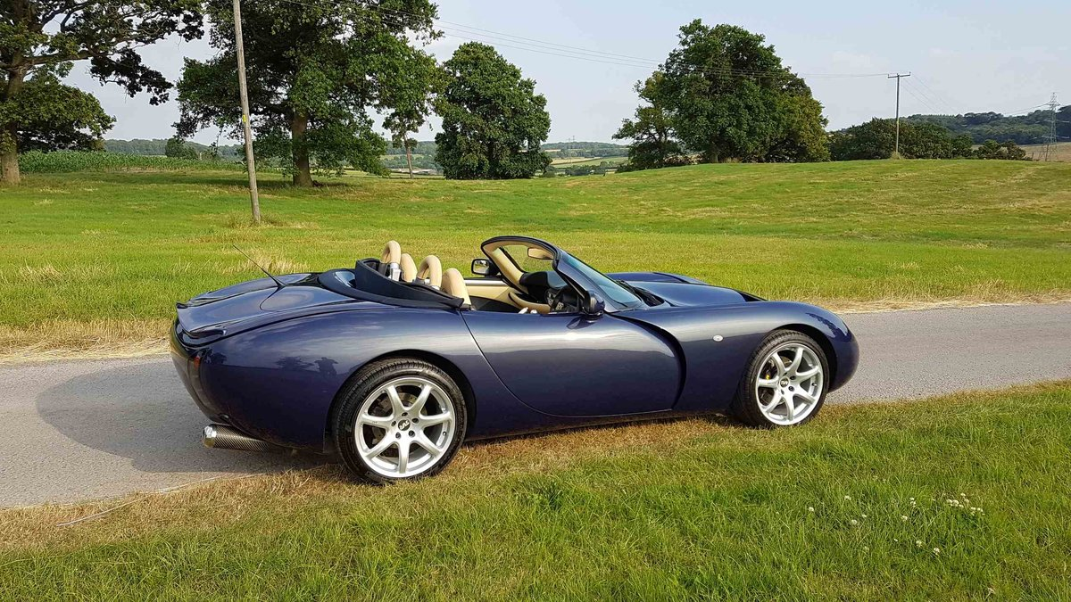 2007 Stunning 1 Owner MK3 TVR Tuscan Convertible in Space Blue For Sale (picture 4 of 6)