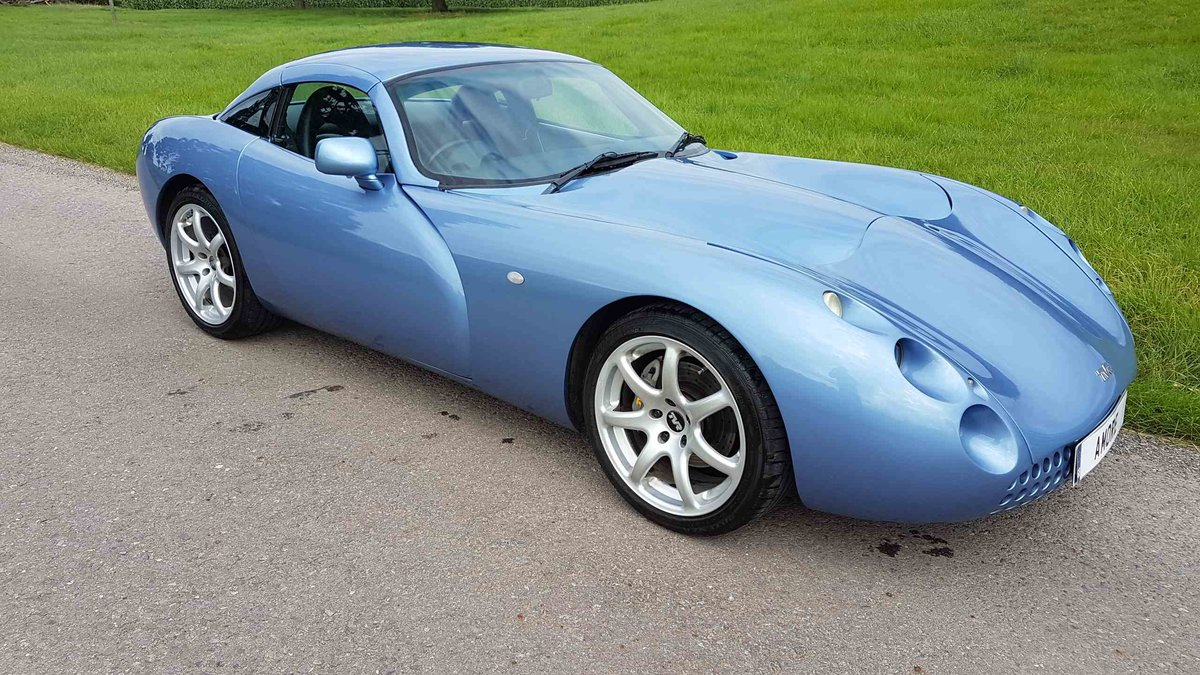 2001 Special! Paris Blue Powers 4.3 Mk1 TVR Tuscan Only 34k miles For Sale (picture 1 of 6)