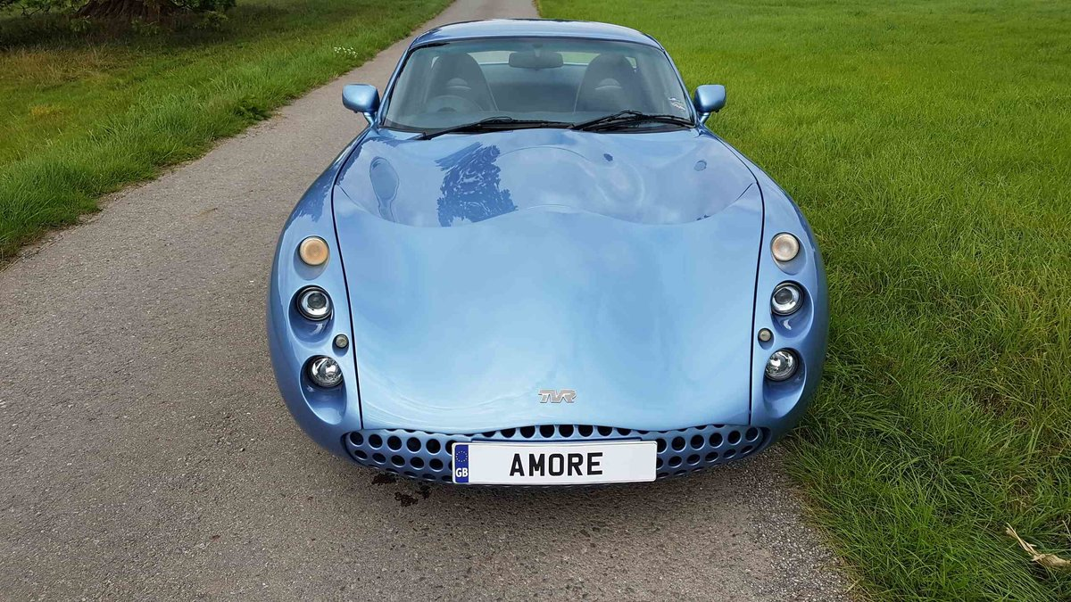 2001 Special! Paris Blue Powers 4.3 Mk1 TVR Tuscan Only 34k miles For Sale (picture 2 of 6)