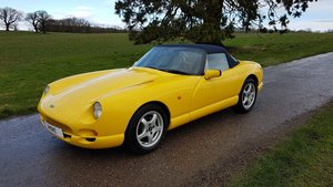 2002 TVR 4.5L Chimaera Giallo Fly Yellow with Navy Interior SOLD