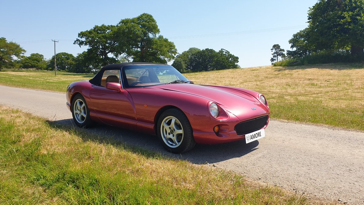 1994 Wonderful TVR 4.0 Chimaera Red Rosso Pearl with PS T5 Box For Sale (picture 1 of 6)