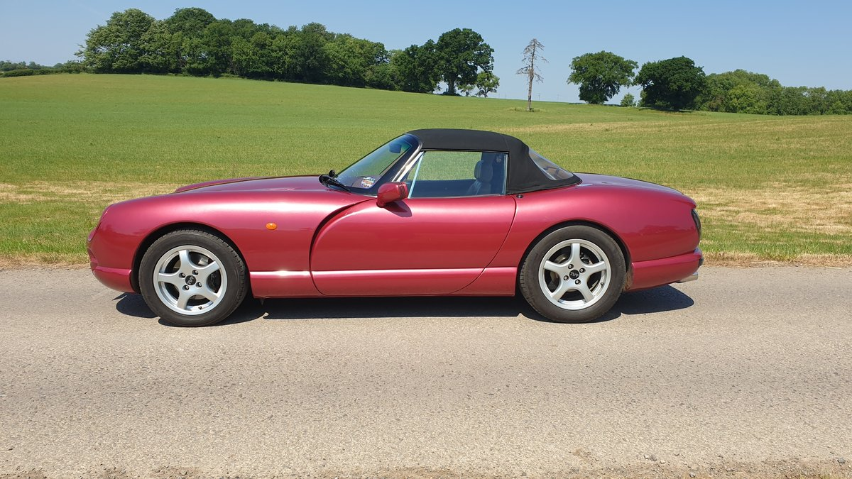 1994 Wonderful TVR 4.0 Chimaera Red Rosso Pearl with PS T5 Box For Sale (picture 2 of 6)