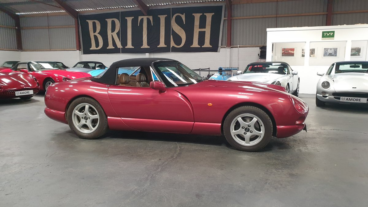 1994 Wonderful TVR 4.0 Chimaera Red Rosso Pearl with PS T5 Box For Sale (picture 3 of 6)