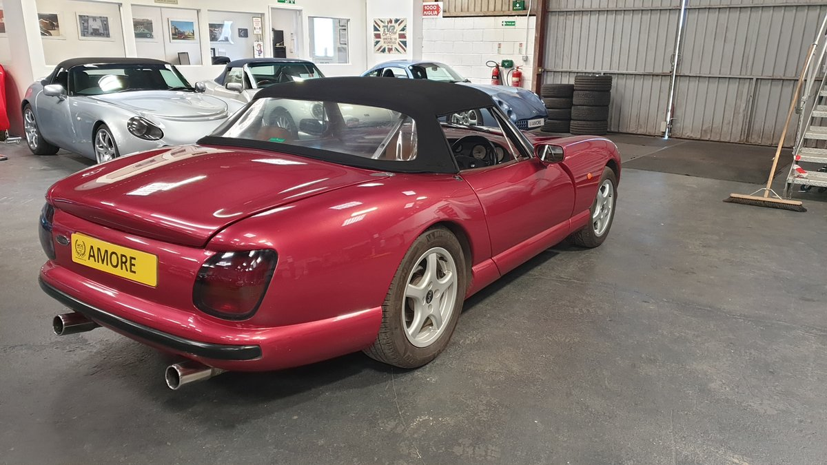 1994 Wonderful TVR 4.0 Chimaera Red Rosso Pearl with PS T5 Box For Sale (picture 4 of 6)