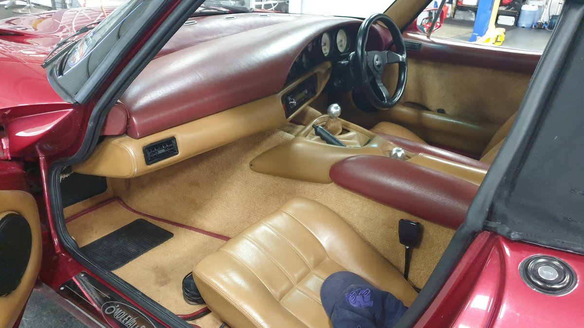 1994 Wonderful TVR 4.0 Chimaera Red Rosso Pearl with PS T5 Box For Sale (picture 6 of 6)