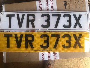 Special TVR Number Plate for your Pride and Joy