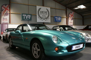 1995 TVR Chimaera 4.0 Ocean Haze with Olive Leather Trim