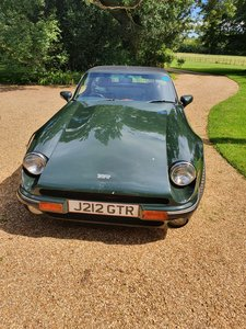 TVR V8S in British Racing Green