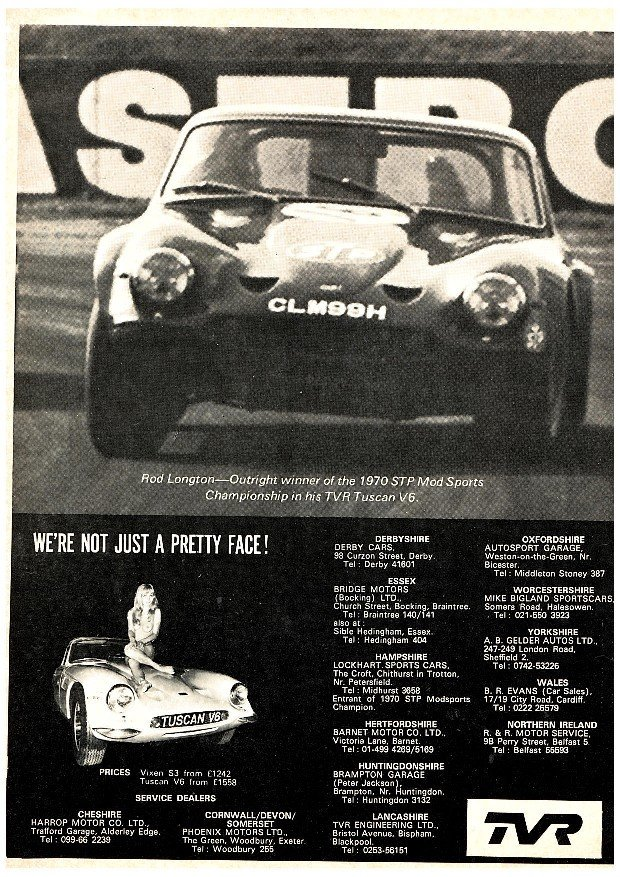 1969 TVR Tuscan 70's Modsport Championship ex Dr Rod Longton For Sale (picture 9 of 12)