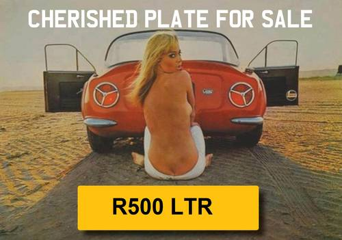 1997 R500 LTR - Registration Plate For Sale (picture 1 of 4)