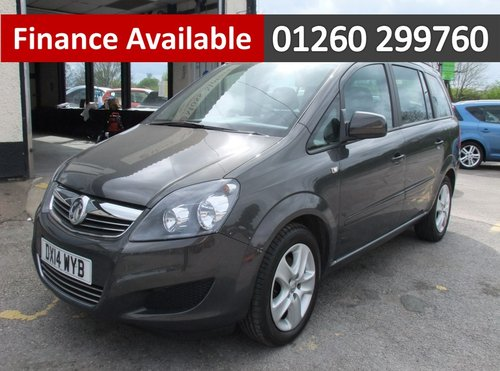 2014 VAUXHALL ZAFIRA 1.8 EXCLUSIV 5DR SOLD (picture 1 of 6)