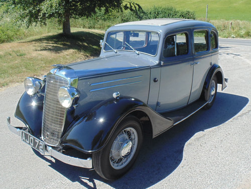 1935 Vauxhall Light Six 14/6 DX De Luxe SOLD (picture 1 of 6)
