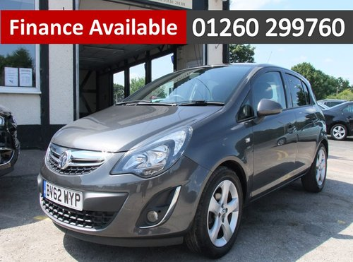2012 VAUXHALL CORSA 1.2 SXI AC 5DR SOLD (picture 1 of 6)