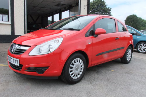 2007 VAUXHALL CORSA 1.0 EXPRESSION 3DR SOLD (picture 1 of 6)