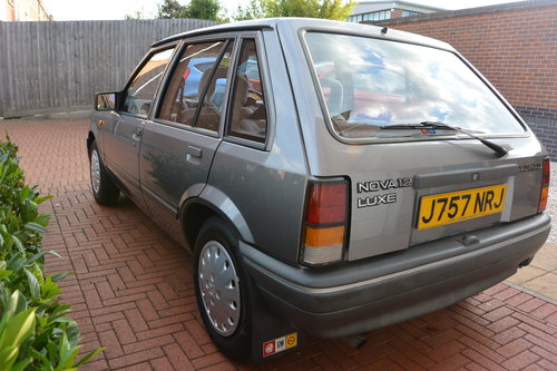 1992 Vauxhall Nova 1.2 Luxe SOLD (picture 3 of 6)
