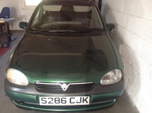 1998 1 of only 60 made Vauxhall Corsa cabriolet SOLD (picture 2 of 4)