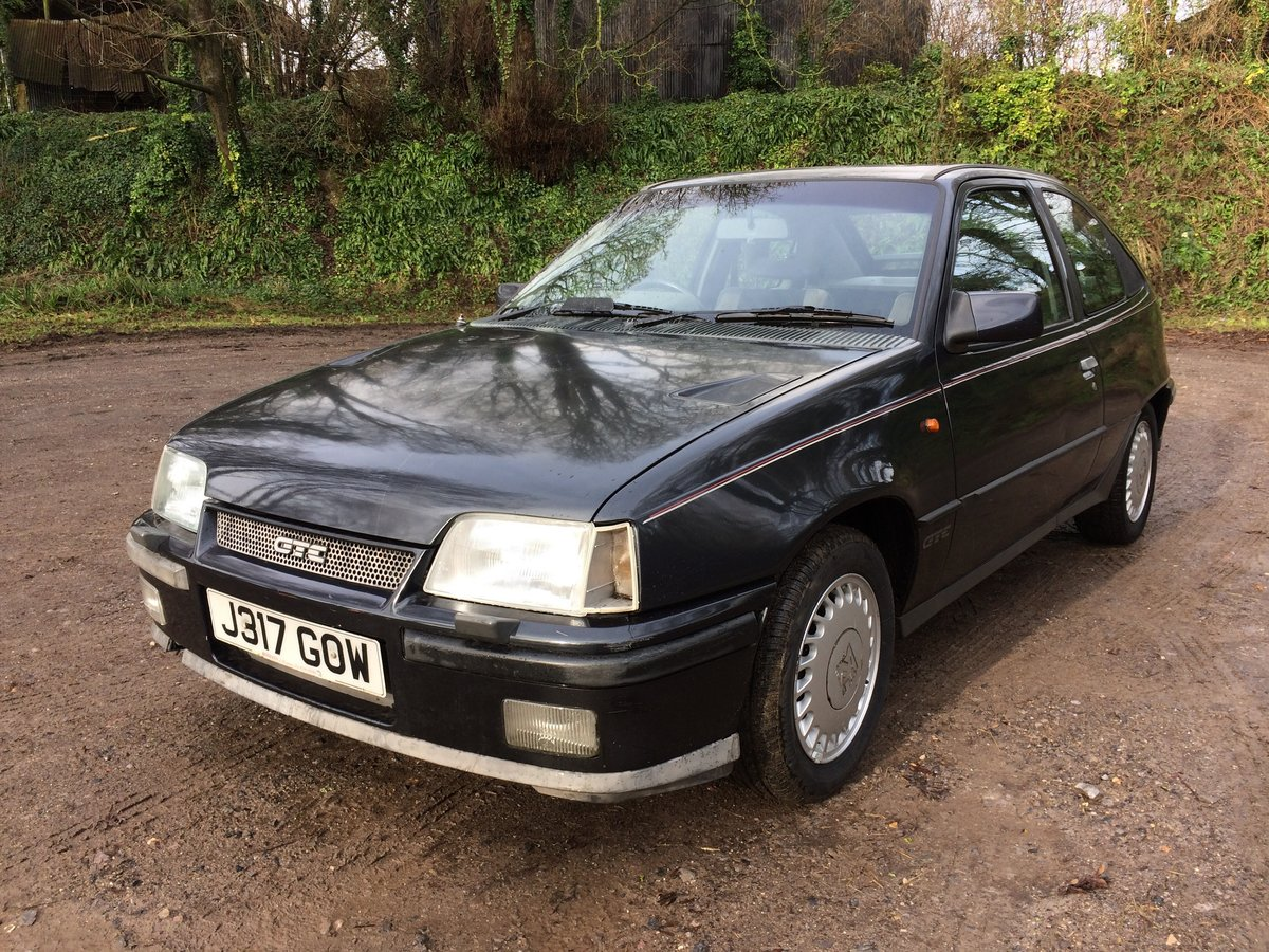 1991 Vauxhall Astra Mk 2 GTE For Sale by Auction (picture 1 of 6)
