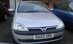 2002 VAUXHALL CORSA 1,2 IN EXCELLENT CONDITION SOLD