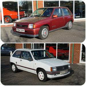 1988 Vauxhall Nova GTE AND 1989 Vauxhall Nova Sting 1.2 For Sale