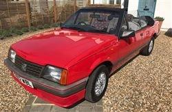 1987 Cavalier Cabriolet - Barons Sandown Pk Tues 30th April 2019 For Sale by Auction