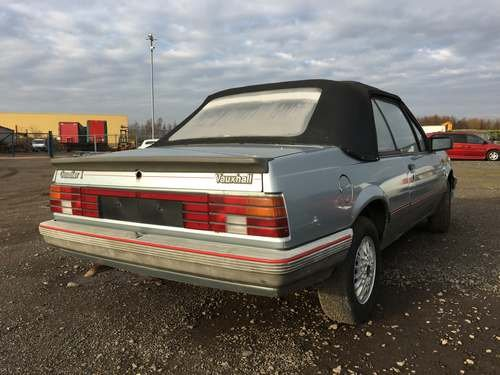 1986 Vauxhall Cavalier Cabriolet at Morris Leslie Auction For Sale by Auction (picture 2 of 4)