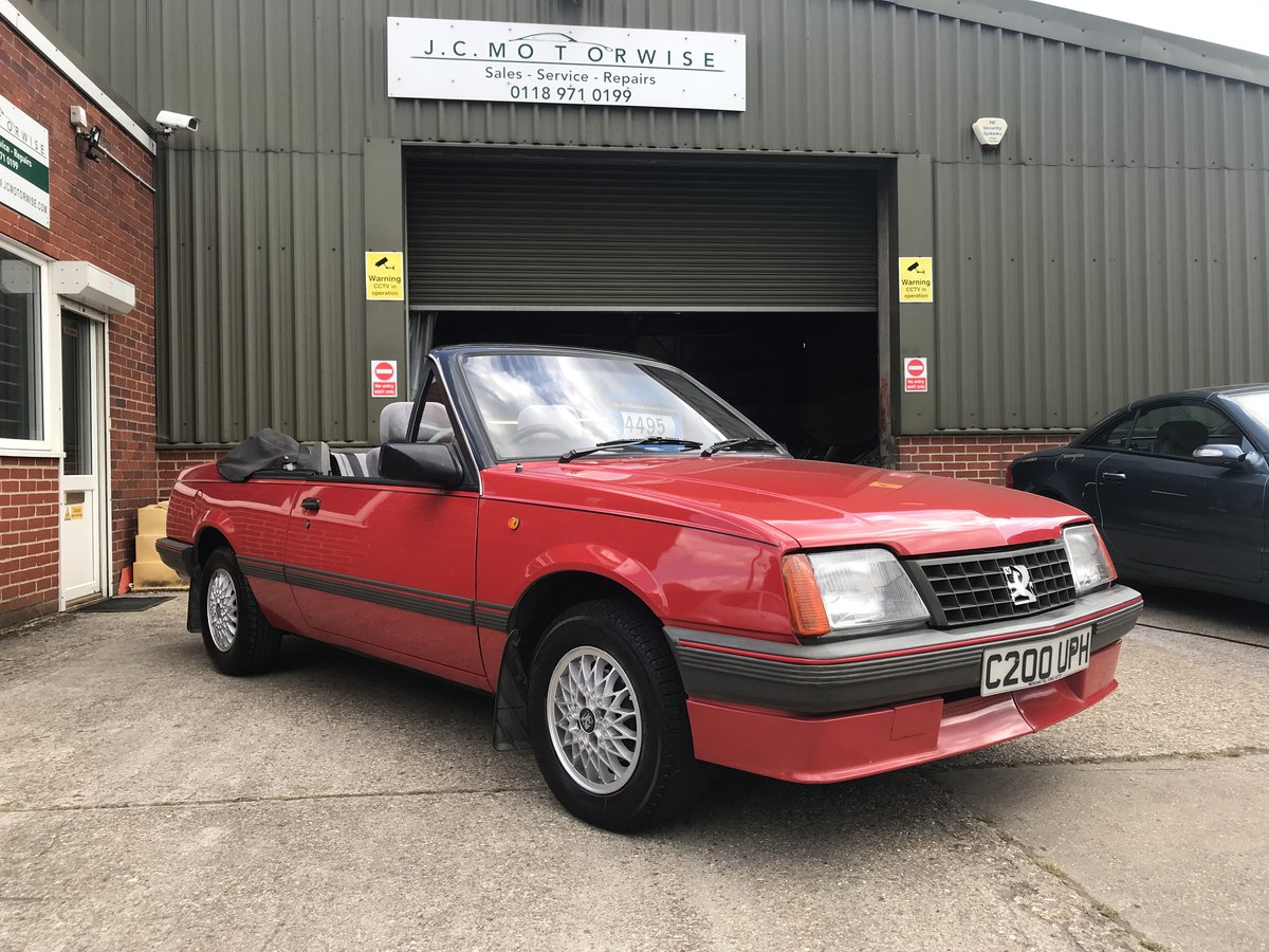 1986 VAUXHALL CAVALIER 1.8 Convertible  For Sale (picture 1 of 6)