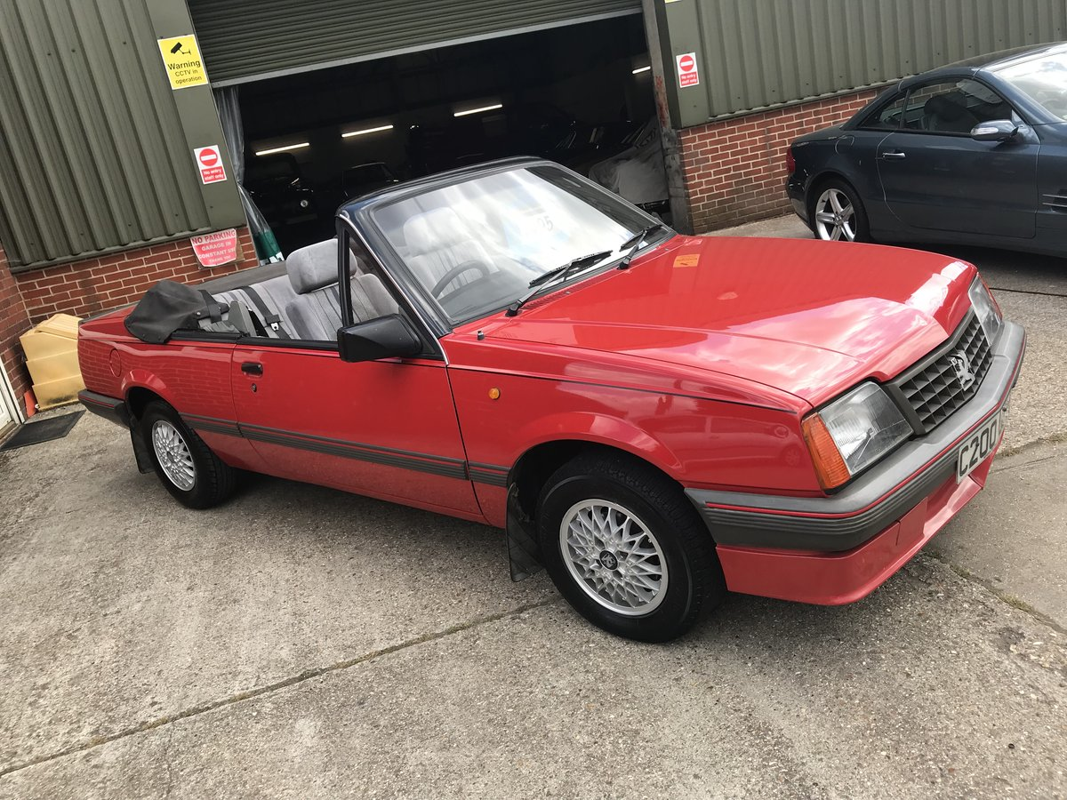 1986 VAUXHALL CAVALIER 1.8 Convertible  For Sale (picture 2 of 6)