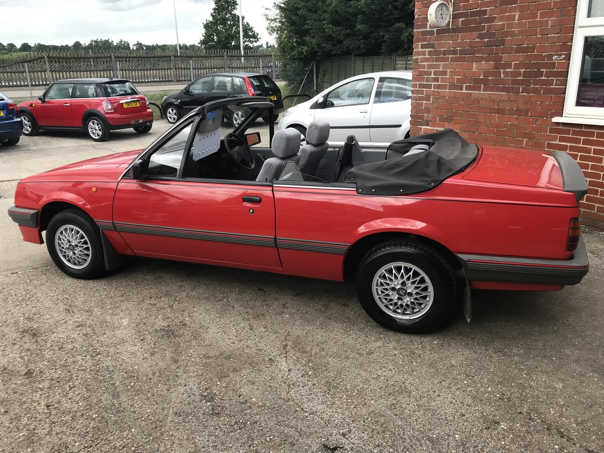 1986 VAUXHALL CAVALIER 1.8 Convertible  For Sale (picture 6 of 6)