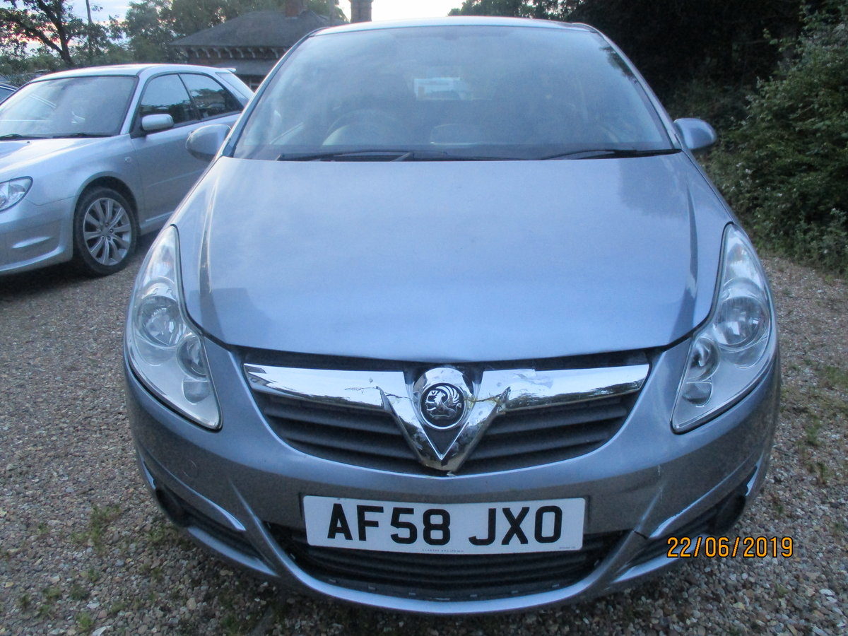 2008 CORSA 1200cc PETROL 3 DOOR  LIFE  MODEL NEW MOT AND SERVICED For Sale (picture 1 of 6)