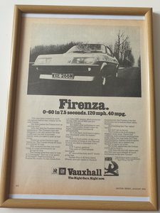1974 Original  Advert for Vauxhall Firenza