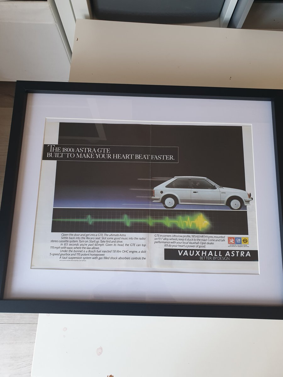1983 Astra GTE advert Original  SOLD (picture 1 of 3)