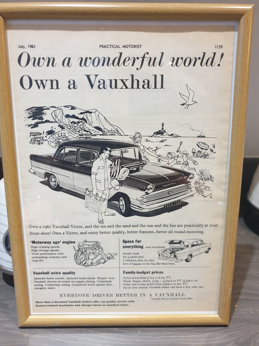 1961 Vauxhall Victor Advert Original  For Sale (picture 1 of 1)