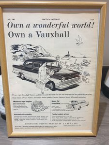 1961 Vauxhall Victor Advert Original  For Sale